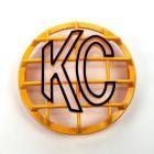 """KC Hilites - 6"""" Stone Guard - KC #7213 (Yellow with Black KC Logo) - 7213"""