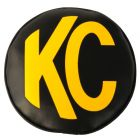 "KC Hilites - KC 8"" Vinyl Cover - Black with Yellow KC Logo (pr) - KC #5802 - 5802"