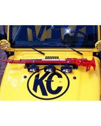 KC Hilites - 3-Tab Hood Mount Light Bar for Jeep Wranger TJ (1997-2006) - Black - KC #7404 - 7404