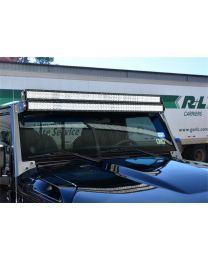 N-FAB - Modular Overhead Windshield Light Mounting Kit; Aluminum Kit; Two 50 In. Rigid E Series Lights; - J07350LR