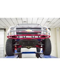 N-FAB - Mrds Front Bumper; Gloss Black; Upper Radius And Lower W/brushed Aluminum Skid Plate; - C151MRDS