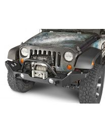 Garvin Wilderness - G2 Series Front Bumper, 2007-2011 JK Wrangler, Full-Width w/storage - 66092