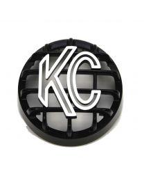 """KC Hilites - 4"""" Stone Guard - KC #7219 (Black with White Logo) - 7219"""