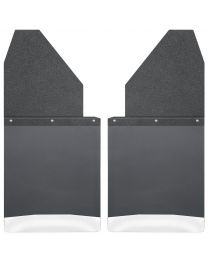 Husky Liners - Kick Back Mud Flaps 14in. Wide - Black Top and Stainless Steel Weight - 17111