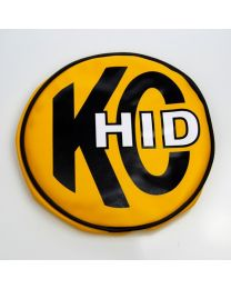 "KC Hilites - 8"" Vinyl Cover - KC #5819 (Yellow with KC HID Logo) - 5819"