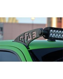 N-FAB - Modular Overhead Windshield Light Mounting Bracket; Aluminum Univ. Bracket; 3 Single Row Series Or Up To 2 Dual Row Lights; - JK450
