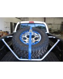 N-FAB - Spare Tire Carrier; Textured Black; Sliding Channel Mounted; W/strap; - T071TR-TX