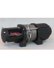 TrailFX - 12V 12000 Lb Line Cap 94 Ft Synthetic Rope Roller Fairlead Mount Not Included - WRS12B