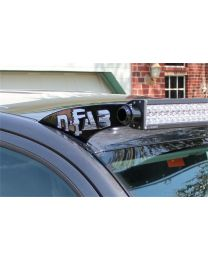 N-FAB - Roof Mounted Light Brackets; Gloss Black; For Use W/49 To 50 1/2 In. Light Bar; Roof Rain Channel Mount; - T0549LR