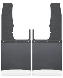Husky Liners - Kick Back Mud Flaps Front 12in. Wide - Black Top and Stainless Steel Weight - 17102