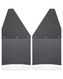 Husky Liners - Kick Back Mud Flaps 12in. Wide - Black Top and Stainless Steel Weight - 17100