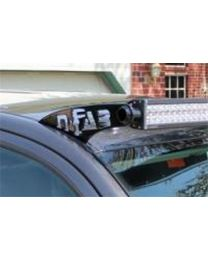 N-FAB - Roof Mounted Light Brackets; For Use W/50 In. Light Bar; Side Mount; Textured Black; - T0750LR-TX