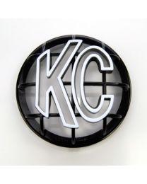 """KC Hilites - 5"""" Apollo Stone Guard - KC #7217 (Black with White KC Logo) - 7217"""