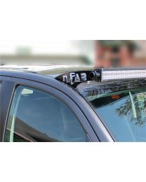 N-FAB - Roof Mounted Light Brackets; Gloss Black; For Use W/50 In. Light Bar; Side Mount; Gloss Black; - T0650LR