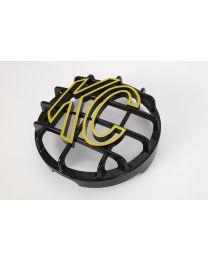 """KC Hilites - 6"""" Stone Guard - KC #72101 (Black with Yellow KC Logo) - 72101"""