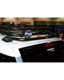 N-FAB - Roof Mounted Light Bar; Black Powder Coated; Rear; Holds Up To Four 9 In. Lights; - TFJ4RLR