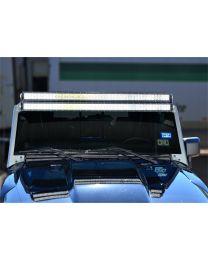 N-FAB - Modular Overhead Windshield Light Mounting Kit; Aluminum Kit; One 50 In. Rigid E Series Light; - J07250LR