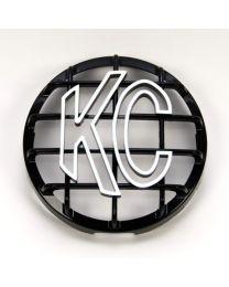 """KC Hilites - 6"""" Stone Guard - KC #7210 (Black with White KC Logo) - 7210"""