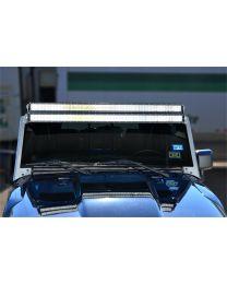 N-FAB - Modular Overhead Windshield Light Mounting Kit; Aluminum Kit; Univ. Bracket; 3 Single Row Or 2 Dual Row Lights; - J07450LR