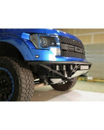 N-FAB - Rds Front Bumper; Gloss Upper/lower W/brushed Aluminum Skid Plate; Upper W/o Radius Mount And Lower W/brushed Aluminum Skid Plate; For Led Light Bars; - F10URDS