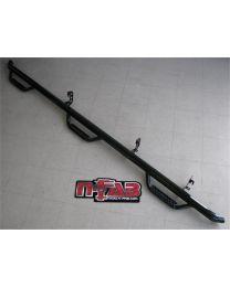 N-FAB - Nerf Step Bar Wheel To Wheel W/bed Access; Gloss Black Powder Coat; 6 Step; 2 In. Main Tube; - T1683QC-6