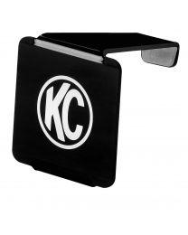 """KC Hilites - 3"""" LZR Cube LED Acrylic Light Cover - Black w/ White KC Logo - KC #72000 - 72000"""