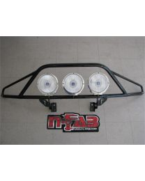 N-FAB - Pre-runner Light Bar; Black Powder Coated; Incl. Light Tabs; Tow Hook Mounted Only; No Drill; - T083LH