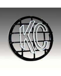 """KC Hilites - 8"""" Stone Guard - KC #7214 (Black with White KC Logo) - 7214"""