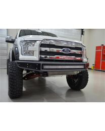 N-FAB - Mrds Front Bumper; Textured Black; Upper Radius And Lower W/brushed Aluminum Skid Plate; - F151MRDS-TX