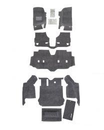BedRug - JEEP COMBO BedRug 2007-10 Jeep JK Unlimited 4 Dr (Includes Front and Cargo Kit) - CBRJK074