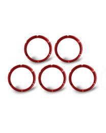 KC Hilites - KC FLEX Bezels -  Red ED Coated (5 pack) - 30564