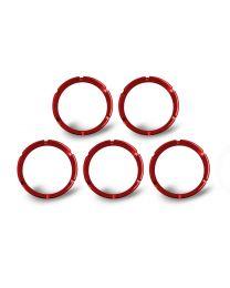 KC Hilites - KC FLEX Bezels -  Red ED Coated (5 pack) - 30564