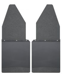 Husky Liners - Kick Back Mud Flaps 12in. Wide - Black Top and Black Weight - 17105