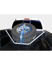 N-FAB - Spare Tire Carrier; Textured Black; Sliding Channel Mounted; W/strap; - T051TR-TX