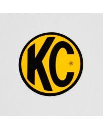 "KC Hilites - 6"" Decal - KC #9910 (Yellow with Black KC Logo) - 9910"
