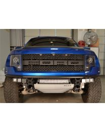 N-FAB - Rds Front Bumper; Replacement Front Bumper For Led Light Bars; Gloss Black; W/skid Plate; Gloss Black; - F10URDS-SG