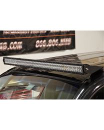 N-FAB - Roof Mounted Light Brackets; Gloss Black; For Use W/50 In. Light Bar; Side Mount; Gloss Black; - T0550LR