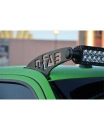 N-FAB - Roof Mounted Light Brackets; Gloss Black; For Use W/50 In. Light Bar; Side Mount; Gloss Black; - F9750LR