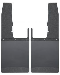 Husky Liners - Kick Back Mud Flaps Front 12in. Wide - Black Top and Black Weight - 17103