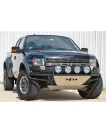 N-FAB - Rsp Replacement Front Bumper Multi-mount System; W/skid Plate; Standard Light Mount; Textured Black; - F104RSP-TX