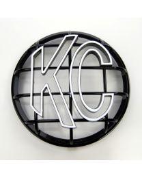 """KC Hilites - 6"""" Apollo Stone Guard - KC #7216 (Black with White KC Logo) - 7216"""