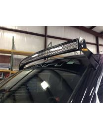 N-FAB - Roof Mounted Light Brackets; For Use W/54 In. Light Bar; Side Mount; Direct Fit Radius; Textured Black; - F0954RLR-TX