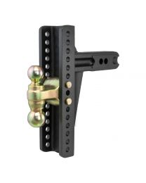 "Curt - Adjustable Channel Mount, Dual Ball (2-1/2"" Shank, 20,000 lbs., 10-3/8"" Drop) - 45927"