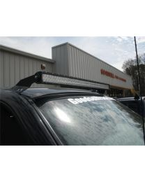 N-FAB - Roof Mounted Light Brackets; Gloss Black; For Use W/50 In. Light Bar; Side Mount; - C9950LR