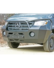 Aluminess - 2019+ Mercedes Sprinter Front Bumper with Brush Guard - 210505