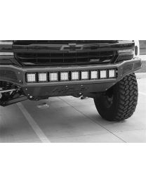 N-FAB - Mrds Front Bumper; Gloss Black; Pre-runner Radius Style; W/integrated Brushed Aluminum Skid Plate; - C161MRDS