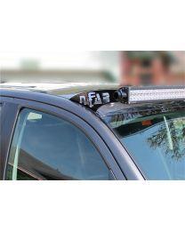 N-FAB - Roof Mounted Light Brackets; Gloss Black; For Use W/50 In. Light Bar; Side Mount; Gloss Black; - T0650LR