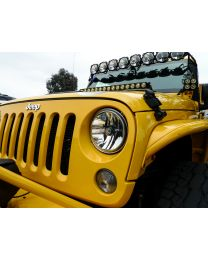 "KC Hilites - Gravity LED 7"" Headlight for 2007-2018 Jeep JK Single - DOT Compliant - 4235"
