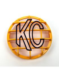 "KC Hilites - 6"" Stone Guard - KC #7213 (Yellow with Black KC Logo) - 7213"