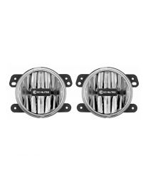 KC Hilites - Gravity LED G4 Fog Light Pair Pack System for 2010-2018 Jeep JK - #497 - 497